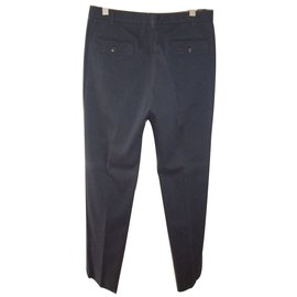 Maison Martin Margiela-Maison martin margiela pants men's size  50 cotton dark blue-Blue