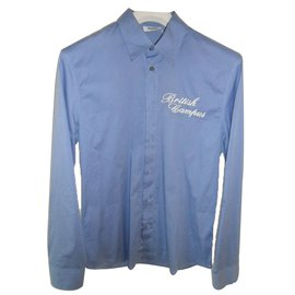 Moschino-Moschino Jeans long sleeves shirt new slim fit-Blue