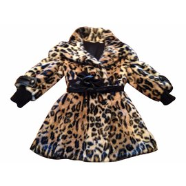 Autre Marque-Coat Microbe-Leopard print