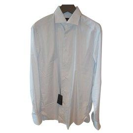Ermenegildo Zegna-classic formal shirt-Blue