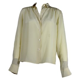 Céline-Silk shirt-Yellow