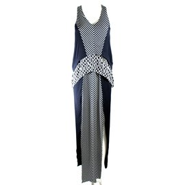 Sass & Bide-Walk Strong Dress-Black,White