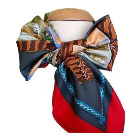 Hermès-CHASSE en AFRIQUE-Multicolore