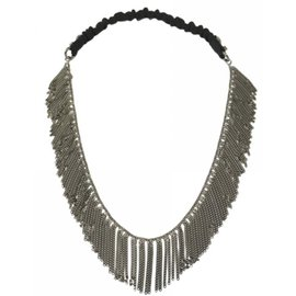 Maison Michel-Maison michel chain headband-Silvery