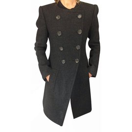 Louis Vuitton-Manteau-Gris anthracite