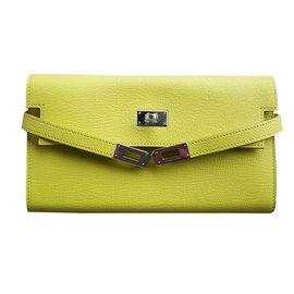 hermes kelly wallet yellow - photo #5