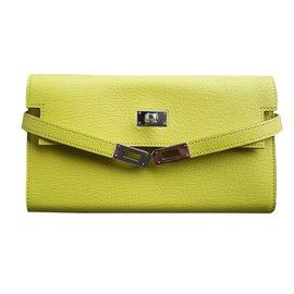 Hermès-Kelly wallet-Yellow