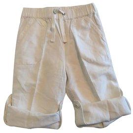 Autre Marque-Pantalons garçon-Blanc