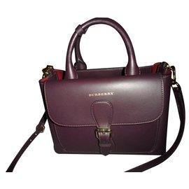 Burberry-Handbags-Prune
