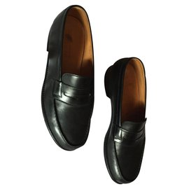 JM Weston-Loafers Slip ons-Black