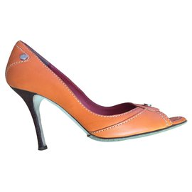 Céline-high heels-Orange