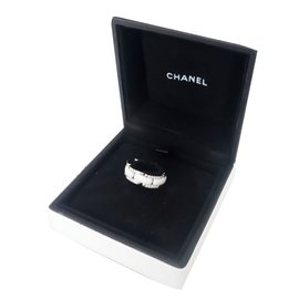 Chanel-Bague chanel ultra ceramique diamants-Blanc