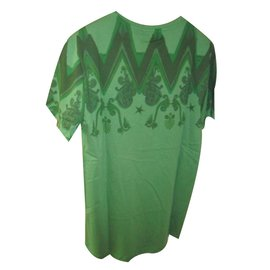 Versace-Versace collection men's casual t-shirt green print nwt-Green