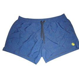 Moschino-Moschino men's swimwear swim boxer nwt navy blue large-Blue