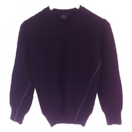 Paul Smith-Pull laine et Angora Paul Smith Junior-Noir