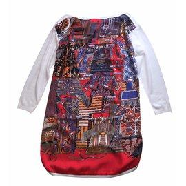 Hermès-Voyage en étoffes-Multicolore
