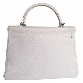 Hermès-Handbags-White