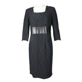 Apostrophe-Lace dress-Black