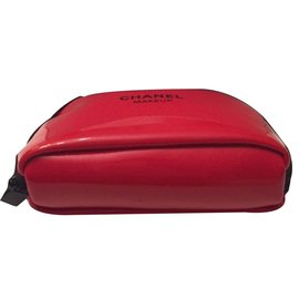 Chanel-Makeup pouch-Red
