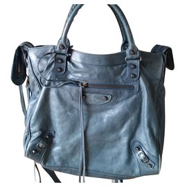 Balenciaga-Sacs à main-Bleu