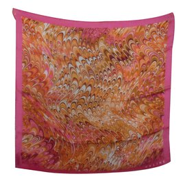 Céline-Silk scarves-Pink