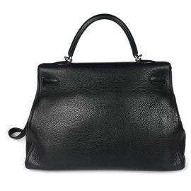 Hermès-Hermes Kelly Taurillon Clemence bag-Black