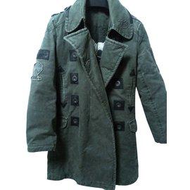 Pepe Jeans-Coats Outerwear-Khaki