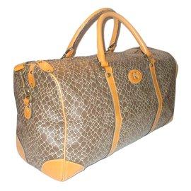 Nina Ricci-sac de voyage vintage-Marron