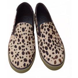 4c1afcfcf Tory Burch-Miles Cheeetah Printed Sneakers Flats-Brown ...