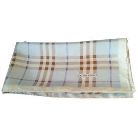 Burberry-Silk scarves-Blue