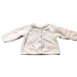 Baby Dior-Blousons, manteaux filles-Blanc