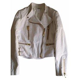 Chloé-Biker jackets-Cream