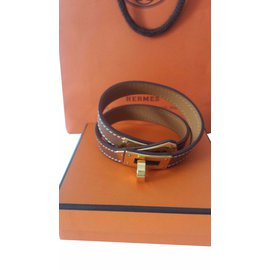 Hermès-Kelly bracelet-Light brown