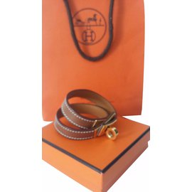 Hermès-Kelly bracelet-Light brown