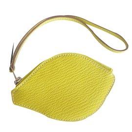 Hermès-Purses, wallets, cases-Yellow