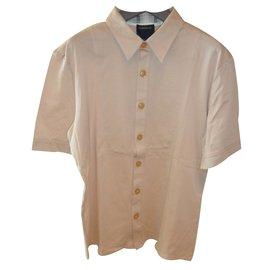 Roberto Cavalli-Roberto cavalli class full button polo shirt nwt-Beige