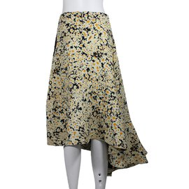 Céline-Long Skirt-Cream,Yellow