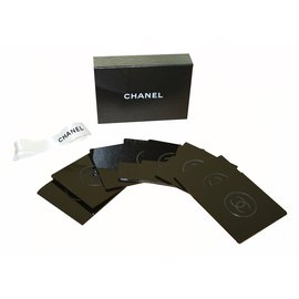 Chanel-Chanel VIP coaster - set of 8-Black