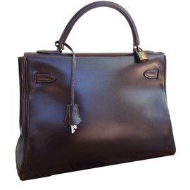 Hermès-KELLY 33-Brown