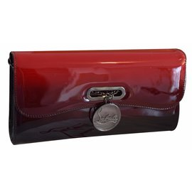 Christian Louboutin-Riviera Clutch patent dégradé Black Red-Multicolore