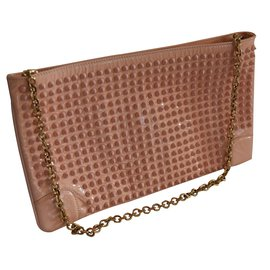 Christian Louboutin-Pochette spike baby pink nude-Autre