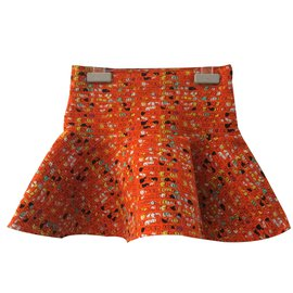Fendi-Skirt-Orange