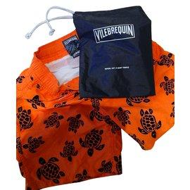 Vilebrequin-Shorts garçon-Orange