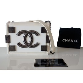 Chanel-SAC CHANEL LEGO-Blanc