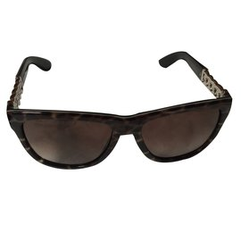 Yves Saint Laurent-Lunettes de soleil-Imprimé léopard