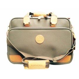 Lancel-Sac Laptop-marron clair