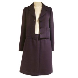 Chanel-Pre-Fall 2001 Skirt Suit-Purple