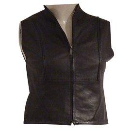 Chanel-Chanel Pre-Fall 1999 Vest-Brown