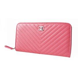 Chanel-Zippy wallet-Pink