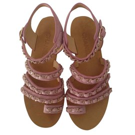 Chanel-Sandals-Pink